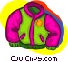 warm jacket Vector Clip Art picture