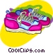 running shoes Vector Clipart picture