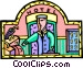 hotel bellhop Vector Clipart graphic