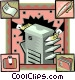 business photocopier Vector Clip Art picture