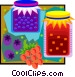 wild berry preserves with Vector Clipart illustration