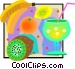 refreshing fruit beverage with Vector Clipart graphic
