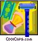 shaving kit Vector Clipart picture