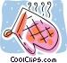 oven mitt Vector Clipart image