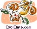 pretzels with Christmas treats Vector Clipart graphic