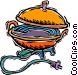 electric wok Vector Clipart illustration