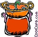 fondue pot Vector Clipart graphic