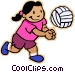 children at play Vector Clip Art picture