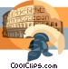 Coliseum Rome Vector Clipart illustration