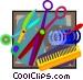 beautician tools Vector Clip Art image