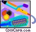 hair curling instruments Vector Clip Art image