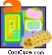 la sponge with soap and body Vector Clipart image