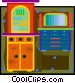 cupboard and dresser in Vector Clipart picture