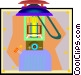propane lantern Vector Clip Art picture