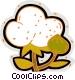 cotton plant Vector Clip Art graphic
