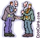 two people greeting with a Vector Clip Art graphic