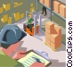 factory worker Vector Clip Art image