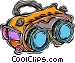night vision goggles Vector Clipart illustration