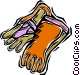 protective gloves Vector Clip Art picture