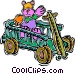 wagon Vector Clipart image