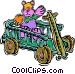 wagon Vector Clipart image