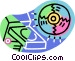 CD ROM disk and computer Vector Clip Art graphic