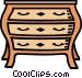 dresser Vector Clipart image