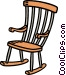rocking chair Vector Clip Art image