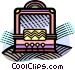 old style radio Vector Clip Art image