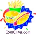 hamburger and fries Vector Clipart picture