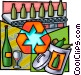 Recycling plant Vector Clipart image