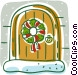 reef on door Vector Clipart illustration