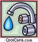 water as a precious commodity Vector Clip Art picture
