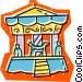 merry-go-round Vector Clip Art graphic