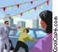Used car salesman Vector Clip Art image