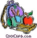 kids nap sack Vector Clipart image