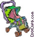 stroller, carriage Vector Clipart picture