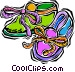 child's slippers Vector Clip Art image