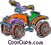 child's 4-wheel drive bike Vector Clipart graphic