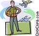 pilot Vector Clip Art picture
