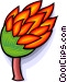 burning tree Vector Clip Art image
