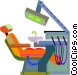 Dentist chair Vector Clipart picture