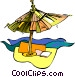 beach umbrella Vector Clip Art image