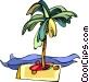 desert island Vector Clip Art image