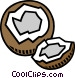 coconut Vector Clip Art graphic