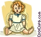 doll Vector Clip Art graphic