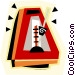 metronome Vector Clipart illustration