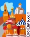 Moscow, Grand Kremlin Palace Vector Clipart image