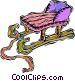 sled Vector Clipart image