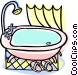 bathroom tub Vector Clip Art graphic